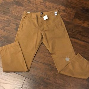 NWT Gap Destructed Cadet pants 32x32 army tan